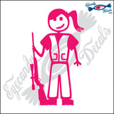 "STICK FAMILY TEEN GIRL HUNTER   4.5"" DECAL"