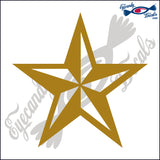 "NAUTICAL STAR  4""  DECAL"