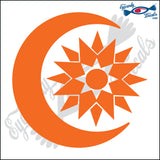 "SUN AND MOON ECLIPSE 5"" DECAL"