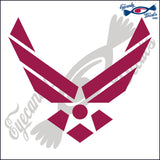 "AIR FORCE LOGO 5""  DECAL"