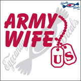 "ARMY WIFE WITH DOGTAGS 6""  DECAL"