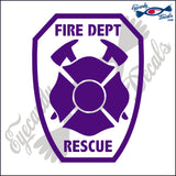"FIRE FIGHTER PATCH STYLE 5""  DECAL"
