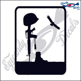 "BATTLEFIELD CROSS 6""  DECAL"