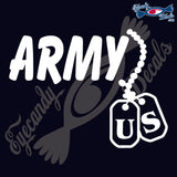 "ARMY DOGTAGS 6""  DECAL"
