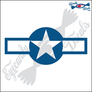 "US AIR FORCE ROUNDEL 6"" DECAL"