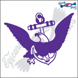 "EAGLE ON A NAVY ANCHOR 6"" DECAL"