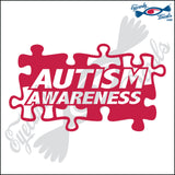 "AUTISM AWARENESS SINGLE COLOR 6"" DECAL"