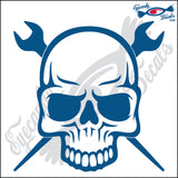 "IRON WORKER SKULL 6"" DECAL"