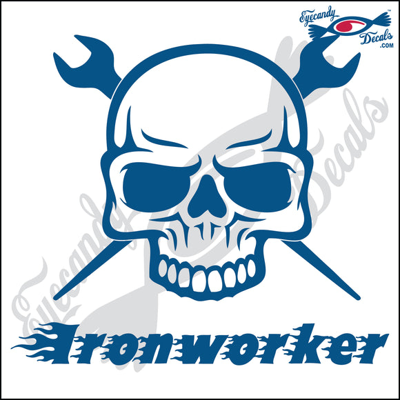 IRON WORKER SKULL WITH WORDS 6