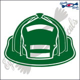 FIRE HELMET BLANK 6  INCH  DECAL