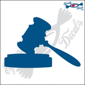 "JUDGES GAVEL SOLID 6"" DECAL"