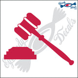 "JUDGES GAVEL 6"" DECAL"