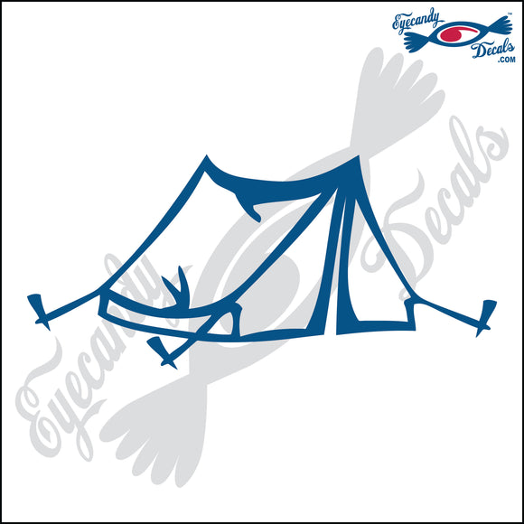 CAMPING TENT 6  INCH  DECAL