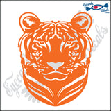 "TIGER HEAD SOLID 6"" DECAL"