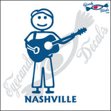 GUITAR MAN with NASHVILLE TENNESSEE 6 INCH  DECAL