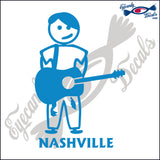 GUITAR TEEN BOY with NASHVILLE TENNESSEE 6 INCH  DECAL