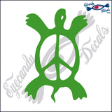 "PEACE TURTLE  6""  DECAL"