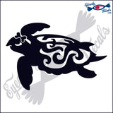 "TRIBAL TURTLE GIRL  6""  DECAL"