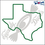 TEXAS STATE OUTLINE 6 INCH  DECAL