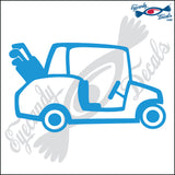 "GOLF CART 6"" DECAL"
