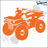 "4 WHEELER WORK ATV 6"" DECAL"