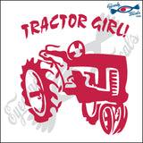 "TRACTOR GIRL 6"" DECAL"