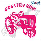 "TRACTOR COUNTRY BOY 6"" DECAL"