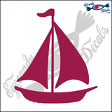 "SAILBOAT 6"" DECAL"
