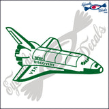 "SPACE SHUTTLE DISCOVERY 6""  DECAL"