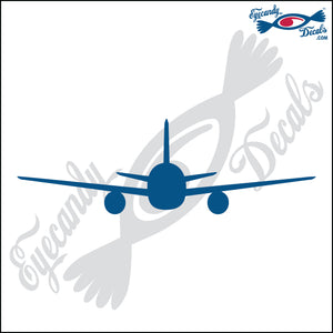 "AIRPLANE REAR VIEW 6"" DECAL"