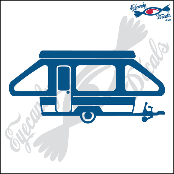 CAMPER TENT 6  INCH  DECAL