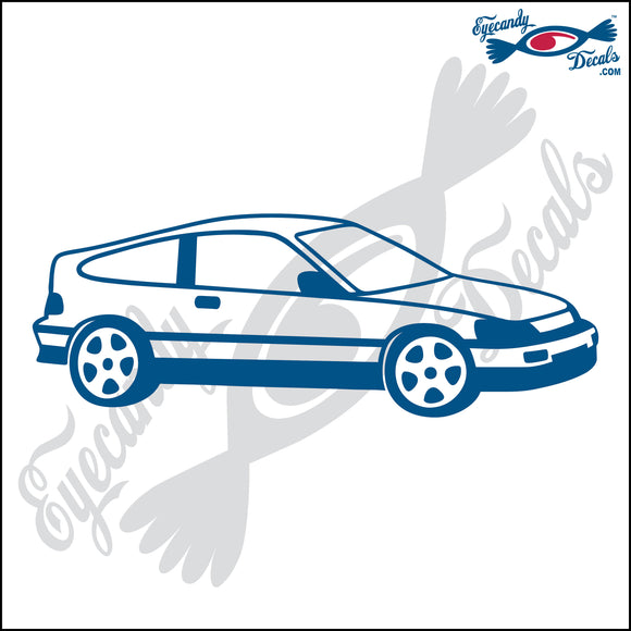 HONDA CIVIC CRX 6  INCH  DECAL