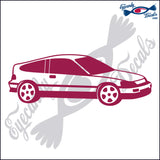 HONDA CIVIC CRX WITH TINTED WINDOWS 6  INCH  DECAL
