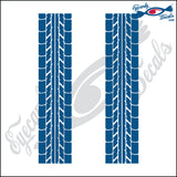 TIRE TREAD 2 PACK 6  INCH  DECAL