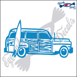 "SURF WOODY  6""  DECAL"