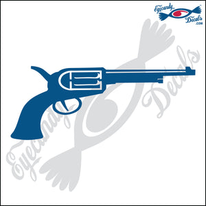 "LONGER OLD TIME PISTOL 6"" DECAL"