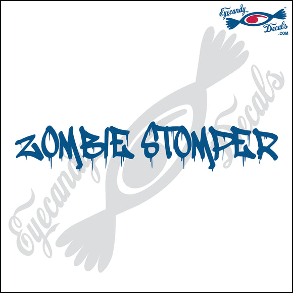 ZOMBIE STOMPER 6  INCH  DECAL