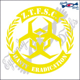 ZOMBIE TASK FORCE SOUTH CAROLINA 6  INCH  DECAL