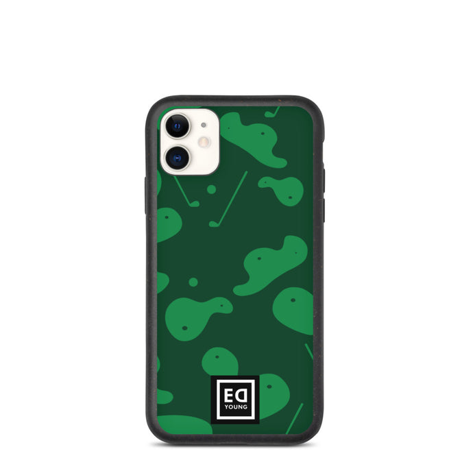 Biodegradable Phone Case Camo Green