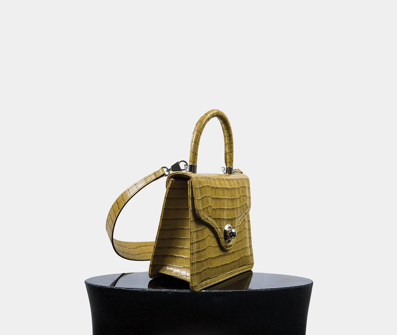 Lady Bag - Chartreuse Croc