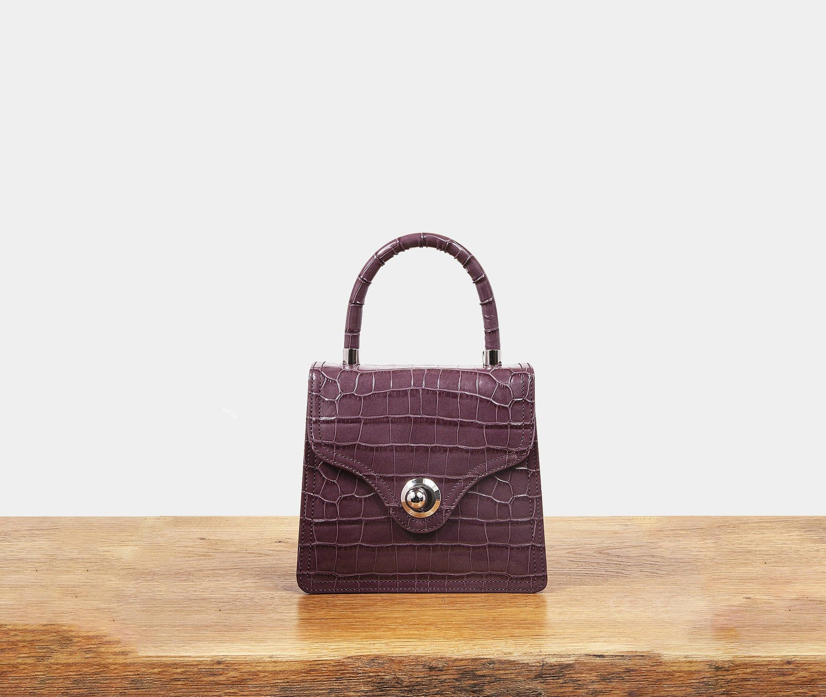 Lady Bag - Brown Rose Croc - RATIO ET MOTUS
