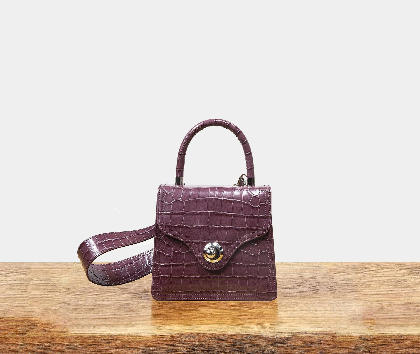 Lady Bag - Brown Rose Croc