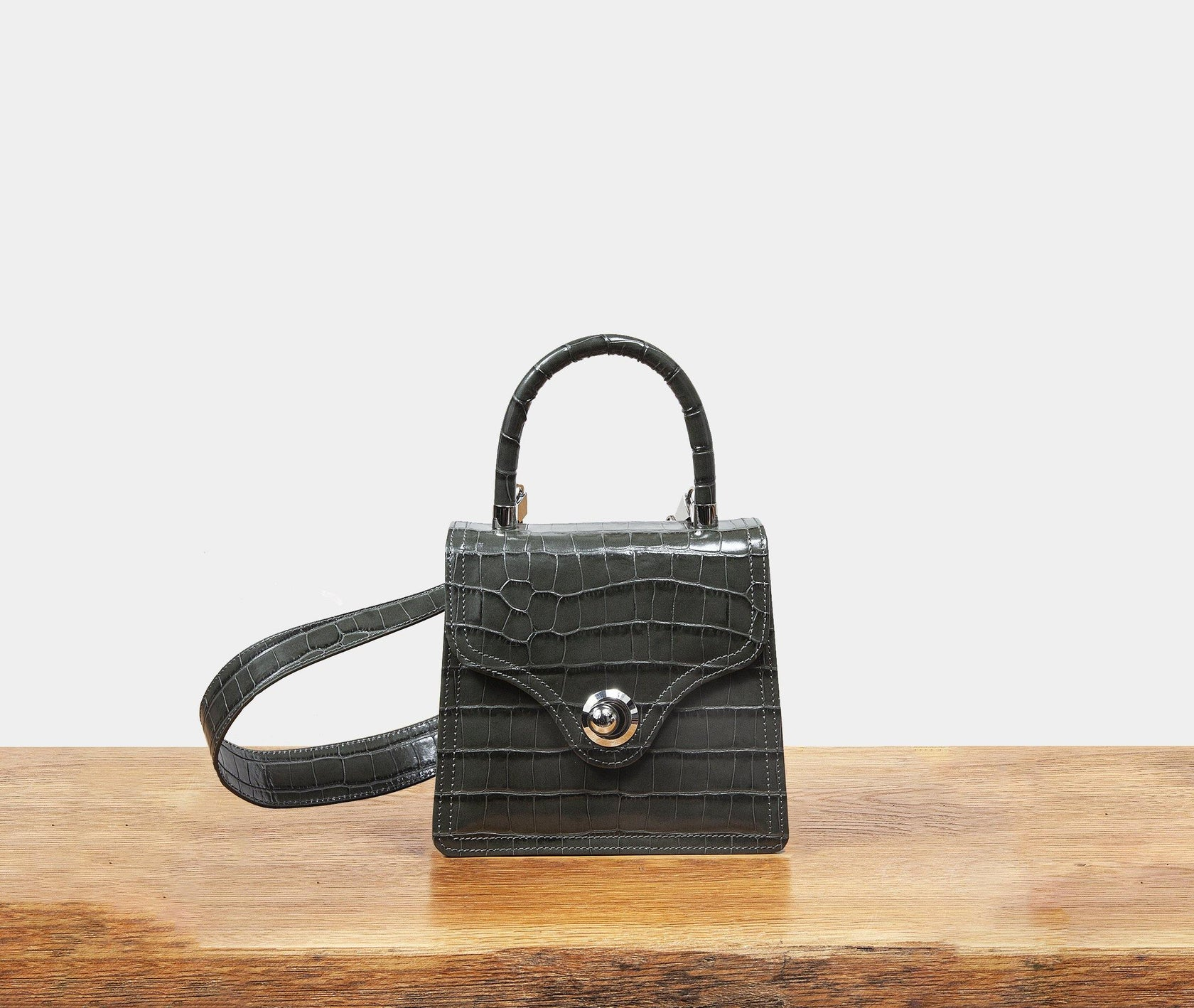 Lady Bag - Forest Grey Croc