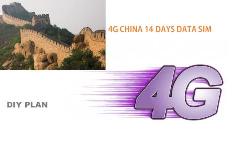 4G China 14 Days Data SIM - DIY Plan