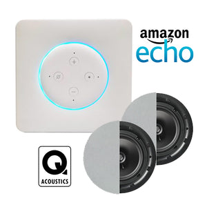 In Wall Amazon Echo Amplifier & Q Acoustics Qi65C Ceiling Speakers