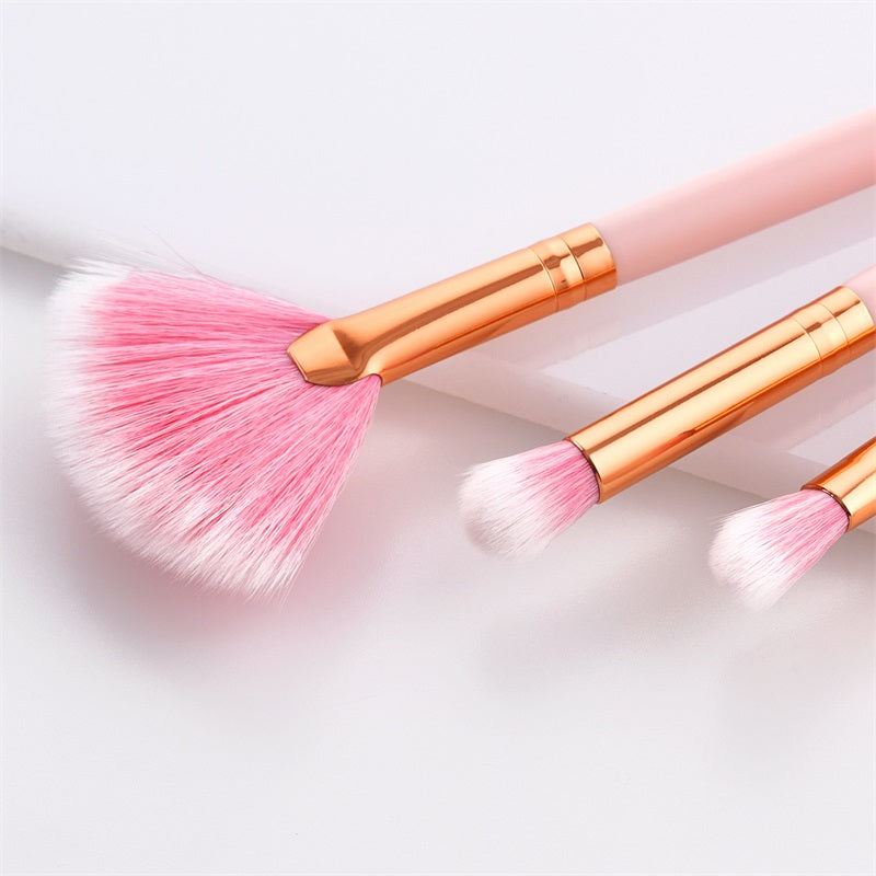 set of 10 cosmetic makeup brush set online
