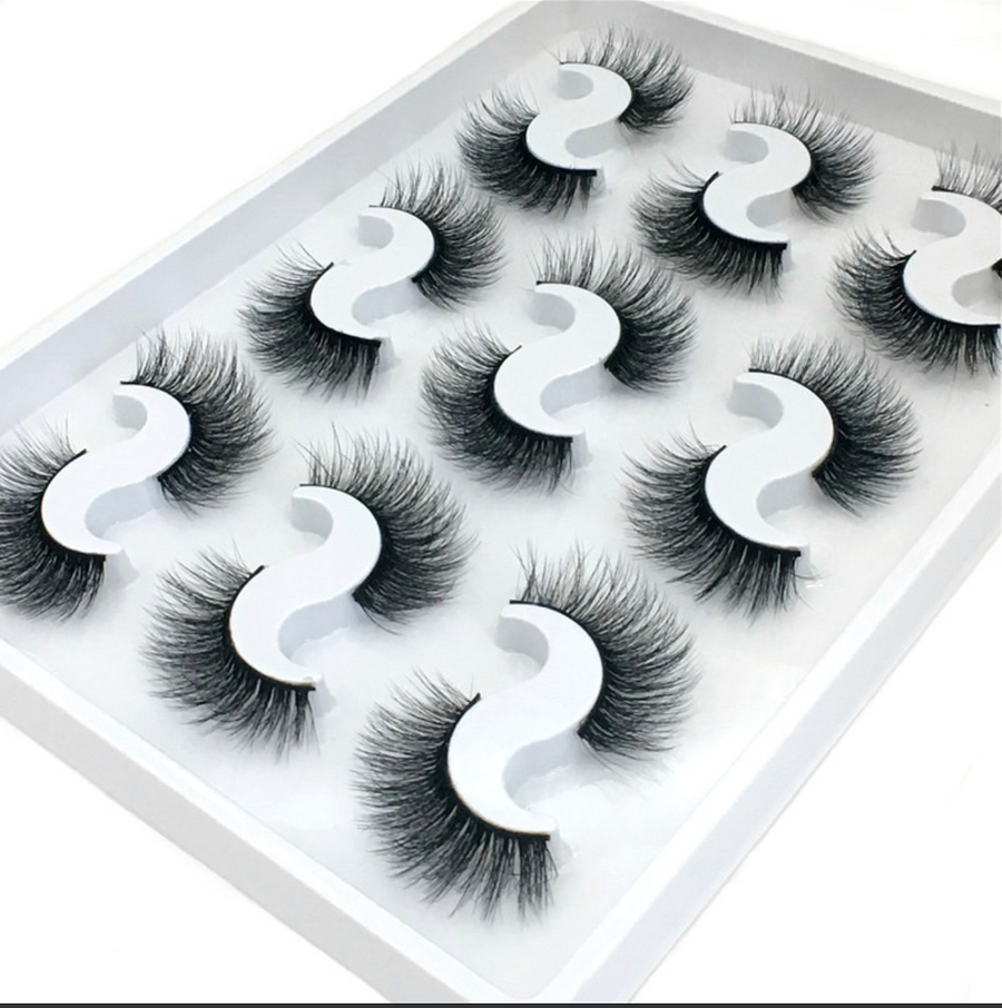 Set of 9 6D Mink Synthetic Hair Lashes Online