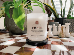 Focus candle, with only the highest quality essential oils