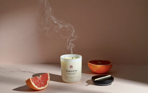 Paridisi, citrus soy wax candle. 100% sustainable ingredients