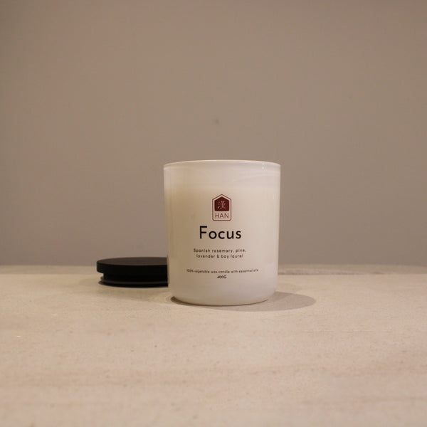 FOCUS: Rosemary and Bay Essential Oil Candle (400g)